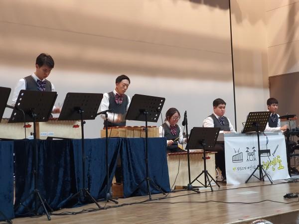 오르프와 피아노, 드럼 합주